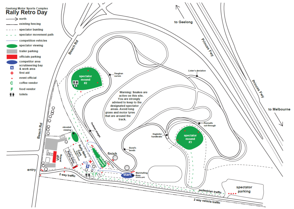Map of the RRD site layout